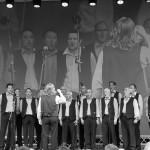 Die Ultner Bänkelsänger bei einem Konzert in Algund